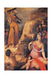 Moses Breaking the Tablets of the Law, 1537 Giclée-tryk af Domenico Beccafumi