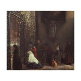 Morning Mass Giclee Print by Adolph Menzel