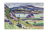 Figure and Kirk, Iona Giclee Print by Francis Campbell Boileau Cadell