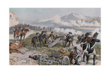Bonaparte Aiming the Cannon at Lodi Giclee Print by Felicien Baron De Myrbach-rheinfeld