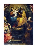 Holy Family with Saints Eligius Bishop and Anthony Abbot Giclee Print by Domenico Fiasella