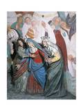 Statues of Holy Women Following Christ, Detail from Crucifixion Giclee Print by Gaudenzio Ferrari