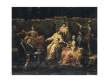 Entertainment in Garden of Albaro, 1735 Giclee Print by Alessandro Magnasco