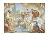 Italy, Bergamo, Colleoni Chapel, Lunette Showing Baptism of Christ Giclee Print by Giambattista Tiepolo