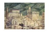 View of Arezzo Giclee Print by Bartolomeo Della Gatta