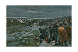 The Passage of the Beresina Giclee Print by Felicien Baron De Myrbach-rheinfeld
