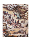 Diamond Mine, 1775 Giclee Print by Carlos Juliao