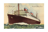 Künstler United States Lines, S.S. Washington Giclee Print
