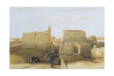 Egypt, Temple at Luxor Giclee Print by David Roberts