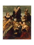 Madonna with Child and Saints Gregory the Great, Nicholas and Lucy Giclee Print by Amico Aspertini
