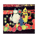 White and Yellow Coffee Pots Giclee Print by Alexej Von Jawlensky