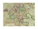 "Map of Europe, from ""Theatrum Orbis Terrarum"" Giclee Print by Abraham Ortel Ortelius"