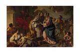 Visitation, Oil Painting Giclee Print by Francesco de Mura