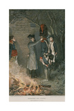Bonaparte and Coignet Giclee Print by Felicien Baron De Myrbach-rheinfeld