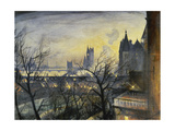 London Twilight from the Adelphi Giclee Print by Christopher Richard Wynne Nevinson