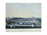View of the Ancient Port of Genoa from the Sea Giclee Print by Ambroise-Louis Garneray