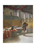 The Triclinium after the Orgy, Circa 1860 Giclee Print by Domenico Morelli