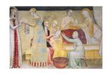 Birth of Mary, Fresco Giclee Print by Giovanni Da Milano