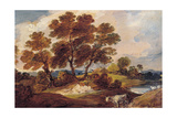 Landscape with Cow and Sheep, C.1795 Giclee Print by Gainsborough Dupont