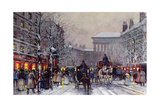 A Parisian Winter Scene Giclee Print by Eugene Galien-Laloue