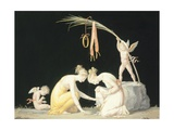 Astragals Players Giclee Print by Antonio Canova