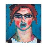 Young Woman with Green Eyes, C.1910 Giclee-trykk av Alexej Von Jawlensky