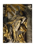 St Augustine, Detail from Chair of St Peter, 1556-1565 Giclee Print by Gian Lorenzo Bernini