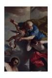 St. Jerome Emiliani Introducing Children to the Trinity Giclee Print by Giambettino Cignaroli
