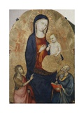 Madonna with Child and Saints John the Baptist and John the Evangelist Giclee Print by Bicci di Lorenzo