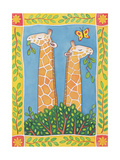 Giraffes Giclee Print by Cathy Baxter