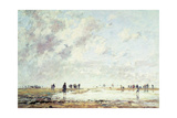 Low Tide at Etaples, 1886 Giclee Print by Eugène Boudin