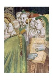 Figures of Women, Detail from Marriage of Virgin Giclee Print by Giovanni Da Milano