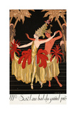 Mlle Sorel at the Grand Prix Ball Giclee Print by Georges Barbier