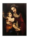 Madonna med barnet Giclée-tryk af Francesco Solimena