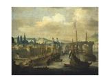 Port of Rouen, Ca 1620 Giclee Print by Claude de Jongh