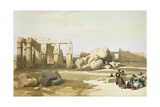 Egypt, Thebes, Ruins of the Great Colossus of Memnon, 1848 Giclee Print by David Roberts