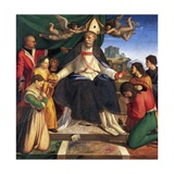 St Nicholas of Bari Enthroned Giclee Print by Andrea Sabatini
