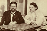 Russian Writers Anton Chekhov and Maxim Gorky, Yalta, Russia, 1900 Photographic Print