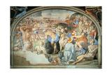 Crossing of Red Sea, Fresco Giclée-tryk af Agnolo Bronzino