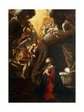 Annunciation Giclée-tryk af Giovanni Lanfranco