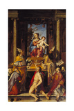 Virgin with Child on a Throne and Saints Giclee Print by Bartolomeo Passarotti