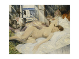 Nude on a Bed, South of France Giclee Print by Christopher Richard Wynne Nevinson