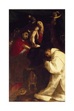 Virgin with St Charles and St Hugh of Grenoble Giclee Print by Giovanni Battista Crespi