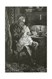 The Sick Child, 19th Century Giclee Print by Daniel Urrabieta Vierge