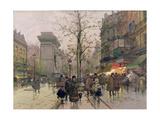 Porte St. Denis, Paris Giclee Print by Eugene Galien-Laloue