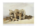 Egypt, the Ruins of the Temple of Kom Ombo Dedicated to Sobek and Horus Giclée-tryk af David Roberts