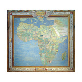 Map of Africa, in the Sala Del Mappamondo Giclee Print by Antonio Giovanni de Varese