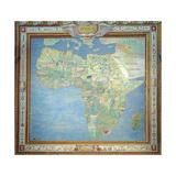 Map of Africa, in the Sala Del Mappamondo Giclee Print by Antonio Giovanni de Varese