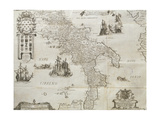 Map of the Kingdom of Naples, 1702 Giclee Print by Giovan Battista Pacichelli