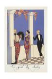 Falbalas Et Fanfreluches, Almanac for 1923, Le Gout Des Chales Giclee Print by George Barbier